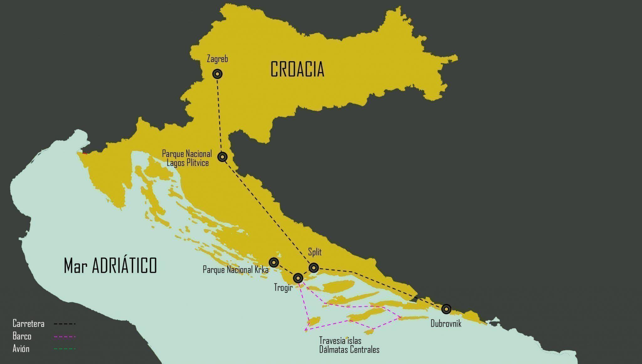 mapa circuito Croacia