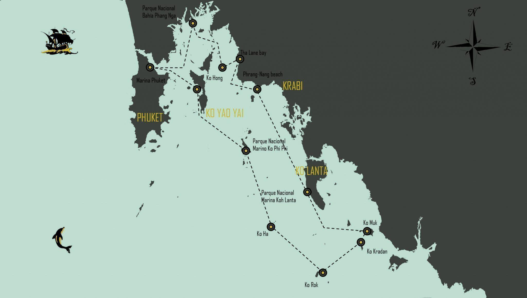 mapa-travesia-catamaran-tailandia
