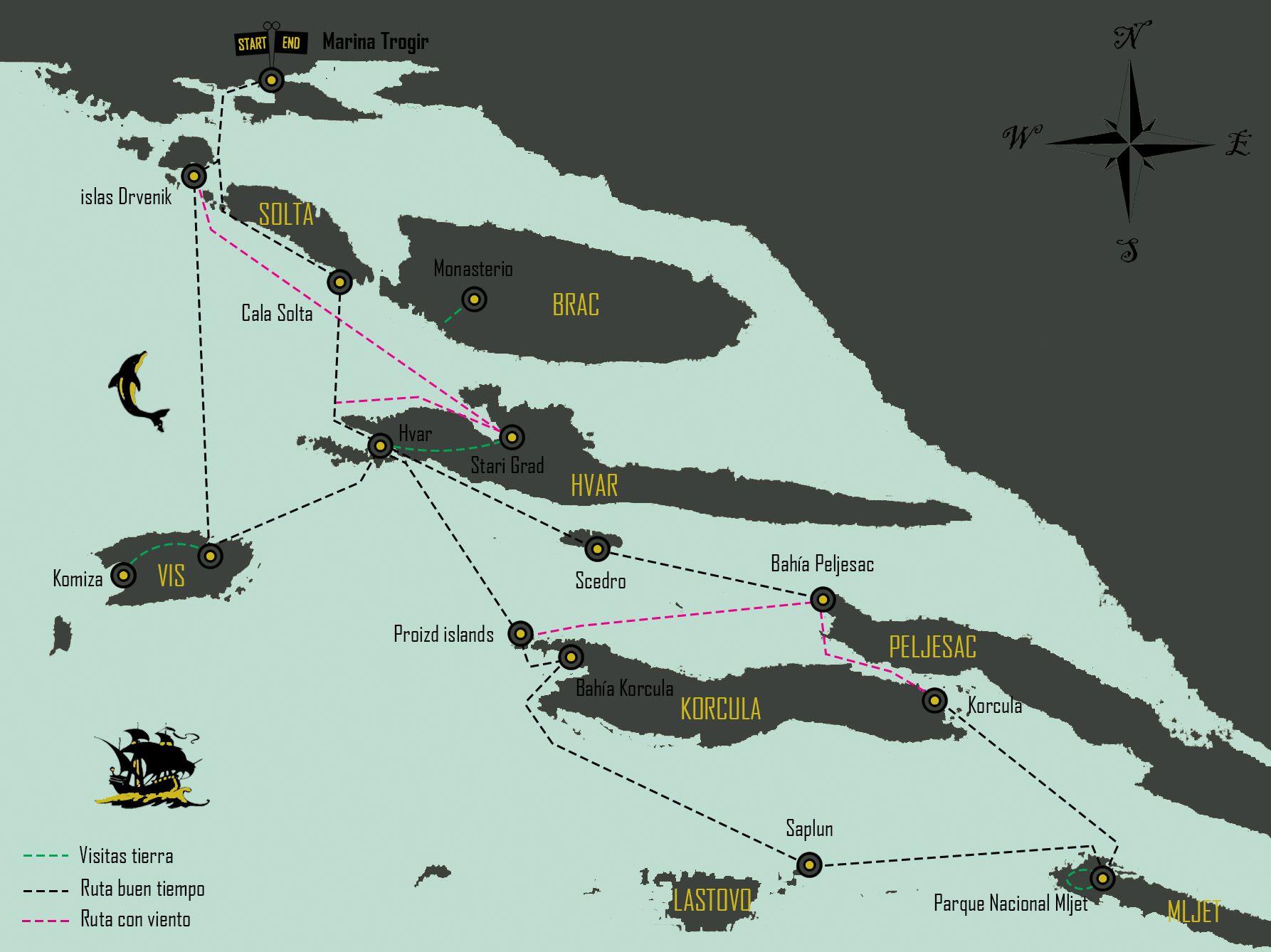 mapa-travesia-velero-croacia